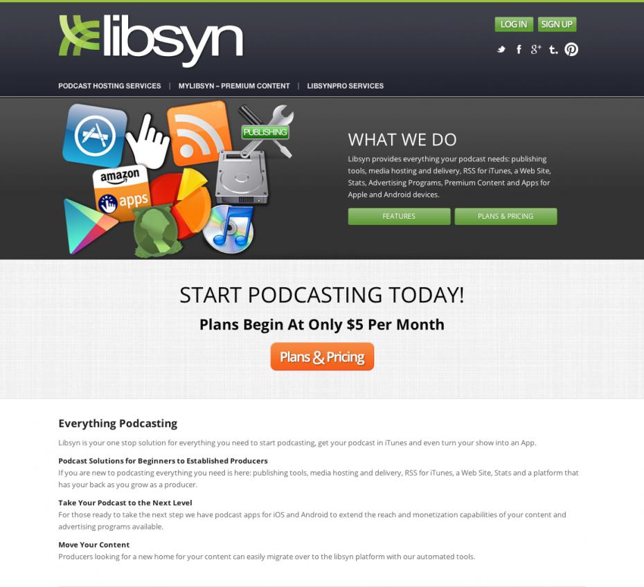 libsyn home page